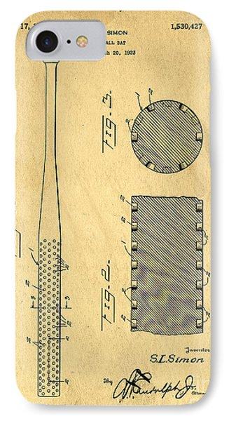 Baseball Bat Patent Phone Case by Edward Fielding