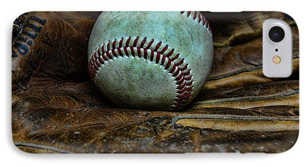 Baseball Broken In Phone Case by Paul Ward