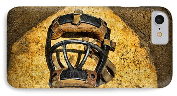 Baseball Catchers Mask Vintage  Phone Case by Paul Ward