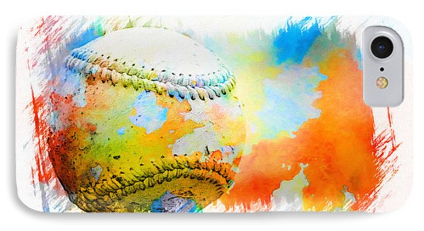 Baseball- Colors- Isolated IPhone Case by Kenny Francis
