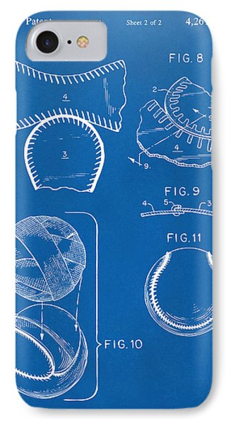 Baseball Construction Patent 2 - Blueprint IPhone Case by Nikki Marie Smith