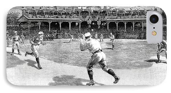 Baseball Game, 1886 IPhone Case by Granger