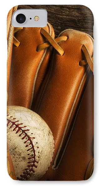 Baseball Glove And Baseball Phone Case by Chris Knorr