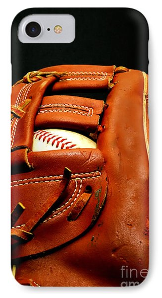 Baseball Glove With Ball Phone Case by Danny Hooks
