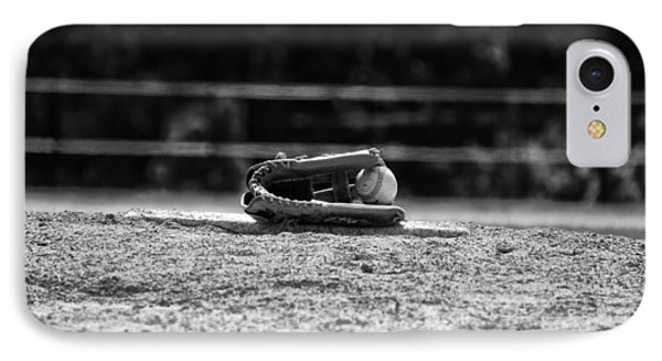 Baseball In Black And White IPhone Case by Bill Cannon