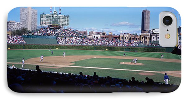 Baseball Match In Progress, Wrigley IPhone Case by Panoramic Images