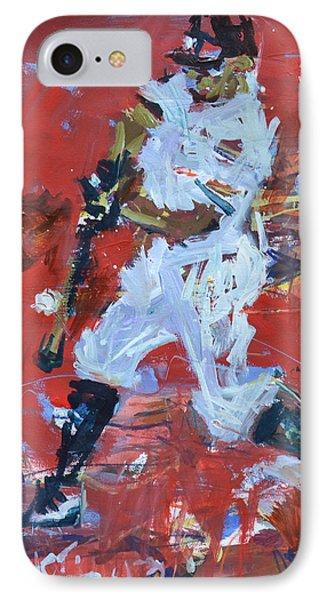 Baseball Painting Phone Case by Robert Joyner