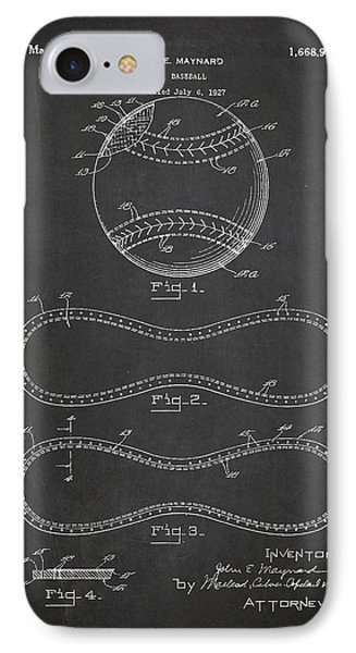 Baseball Patent Drawing From 1927 IPhone 7 Case