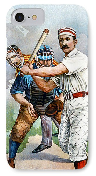 Baseball Player At Bat Phone Case by Unknown