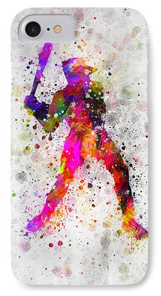 Baseball Player - Holding Baseball Bat IPhone Case