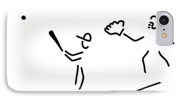 Baseball Usa Sport IPhone Case by Lineamentum