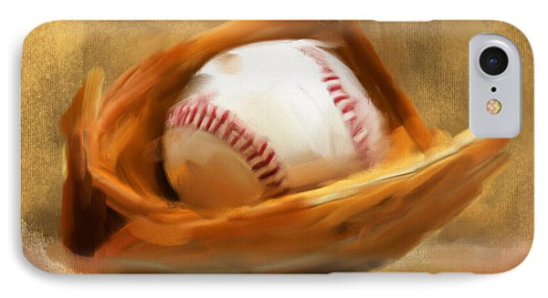 Baseball V IPhone Case by Lourry Legarde