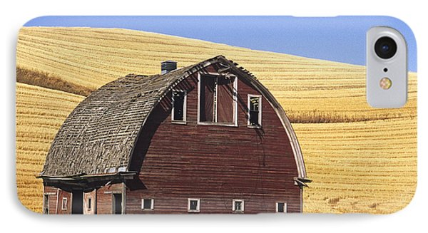 Basic Palouse Barn IPhone Case by Latah Trail Foundation