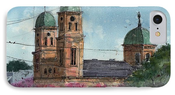 IPhone Case featuring the painting Basillica Of The Immaculate Conception In Natchitoches by Tim Oliver