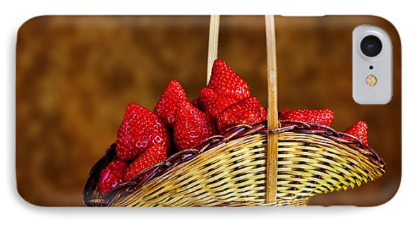 IPhone Case featuring the photograph Basket Full Of Strawberries by Shirley Mangini