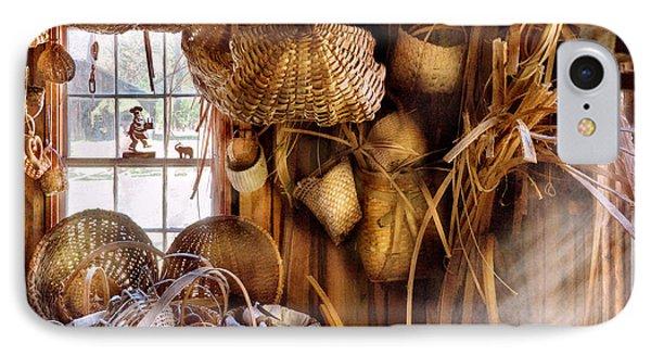 Basket Maker - I Like Weaving Phone Case by Mike Savad