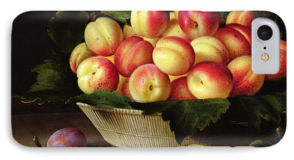 Basket Of Apricots IPhone Case by Louise Moillon