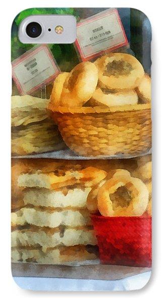 Basket Of Bialys Phone Case by Susan Savad