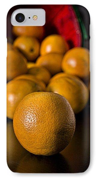 Basket Of Oranges Phone Case by Jeff Burton