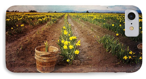 IPhone Case featuring the photograph basket with Daffodils by Sylvia Cook