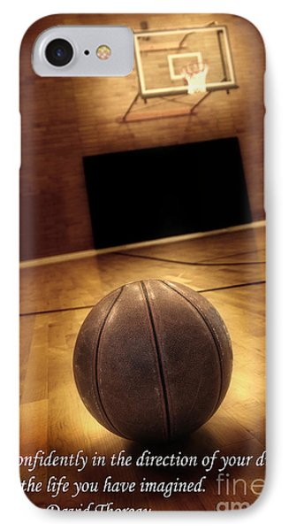 Basketball And Success Phone Case by Lane Erickson