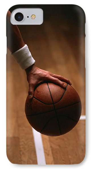Basketball Ball In Male Hands Phone Case by Lanjee Chee