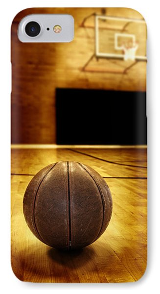 Basketball Court Competition Phone Case by Lane Erickson