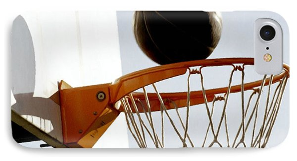 Basketball Hoop And Ball Phone Case by Lanjee Chee