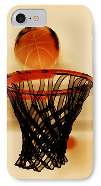 Basketball Hoop And Basketball Ball 1 Phone Case by Lanjee Chee