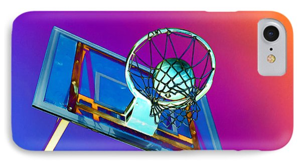 Basketball Hoop And Basketball Ball Phone Case by Lanjee Chee