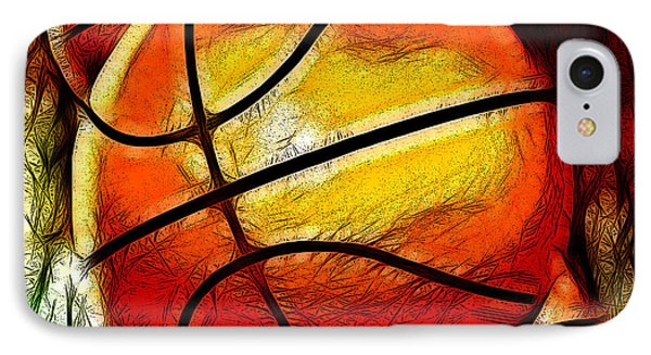 Basketballs Abstract IPhone Case by David G Paul