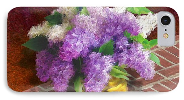Basketful Of Lilacs IPhone Case by Ric Darrell