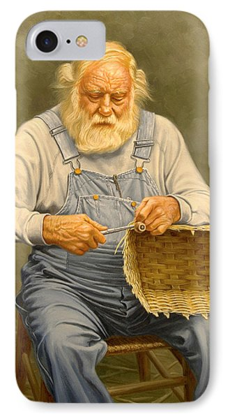 Basketmaker  In Oil IPhone Case by Paul Krapf