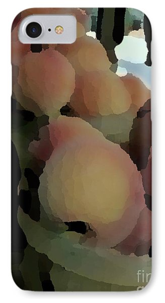 Baskets Of Peaches IPhone Case by Donna Cavanaugh