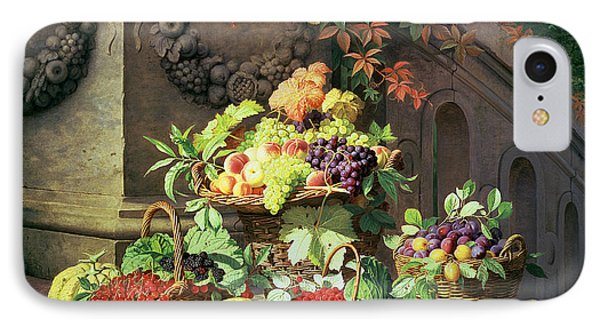 Baskets Of Summer Fruits IPhone Case by William Hammer