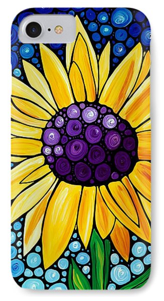 Sunflower iPhone 7 Case - Basking In The Glory by Sharon Cummings