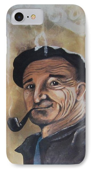 IPhone Case featuring the painting Basque Man With Pipe by Cathy Long