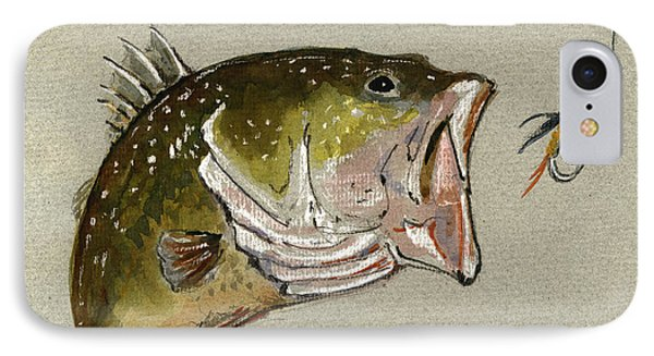 Bass Fish Fly IPhone Case by Juan  Bosco