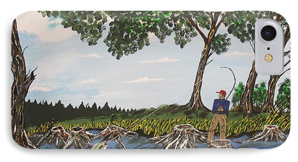 Bass Fishing In The Stumps Phone Case by Jeffrey Koss