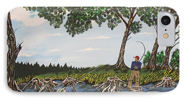 Bass Fishing In The Stumps IPhone Case by Jeffrey Koss