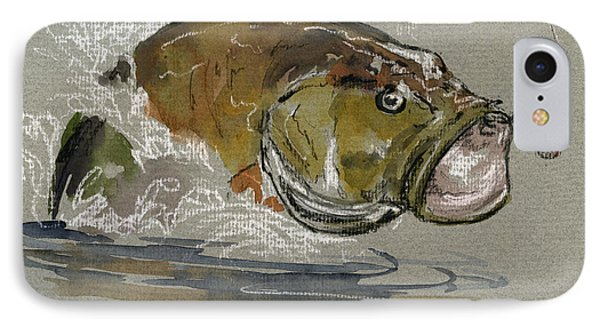 Bass Fishing IPhone Case by Juan  Bosco
