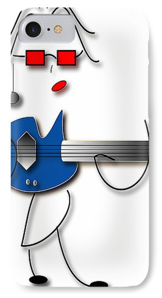 IPhone Case featuring the digital art Bass Guitar Girl by Marvin Blaine
