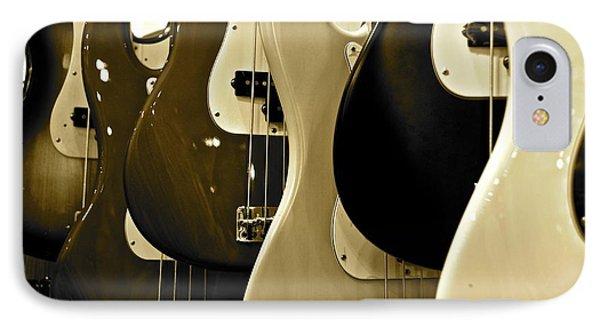 Bass Guitars  IPhone Case by Sarah Mullin