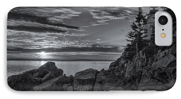 Bass Harbor Head Light At Sunset II IPhone Case by Clarence Holmes