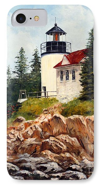 Bass Harbor Head Light Phone Case by Lee Piper