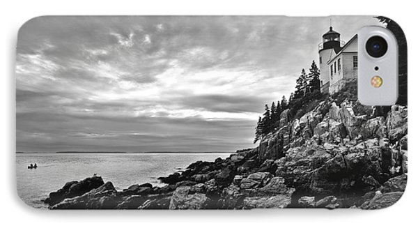 Bass Harbor Lighthouse At Dusk Phone Case by Diane Diederich