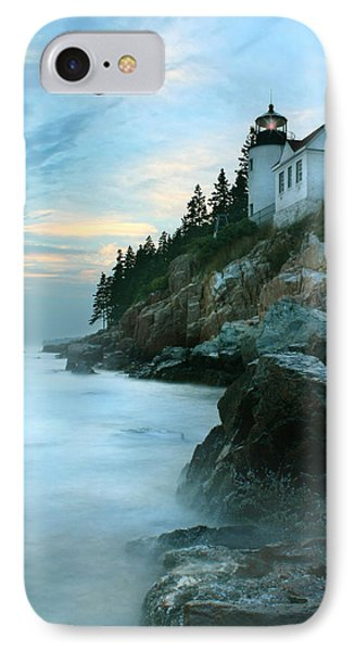 Bass Harbor Lighthouse IPhone Case by Lori Deiter