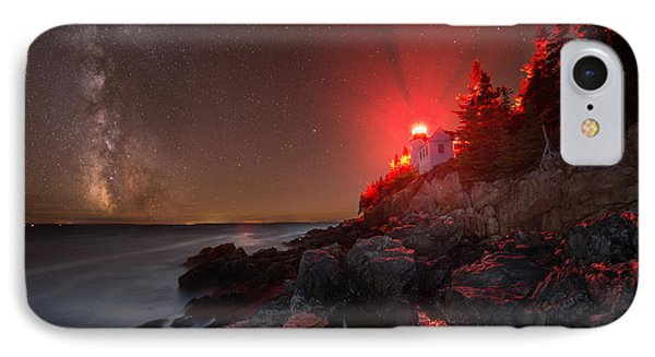 Bass Harbor Lighthouse Milky Way IPhone Case