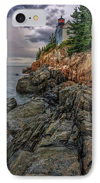 Bass Harbor Lighthouse IPhone Case by Rick Berk