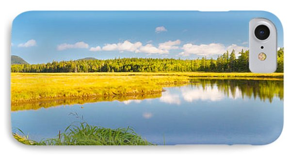 Bass Harbor Marsh Panorama Acadia National Park Photograph IPhone Case by Keith Webber Jr